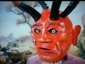 the paper mache space devil